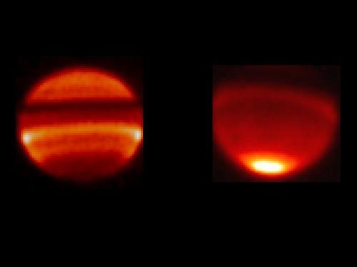 Infrarrojo en Saturno